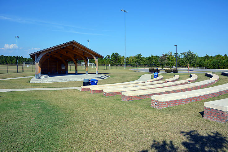 The ampitheater at Ocean Isle Beach Park