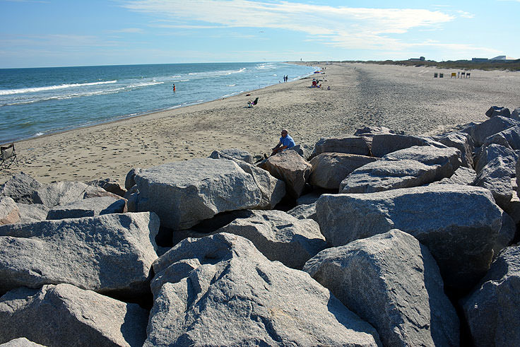 The beach at Fort Fisher