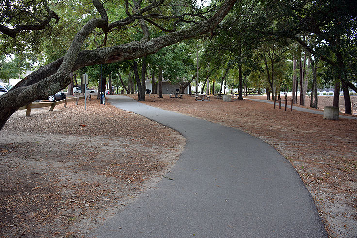 The path at Mclean Park in Myrtle Beach, SC