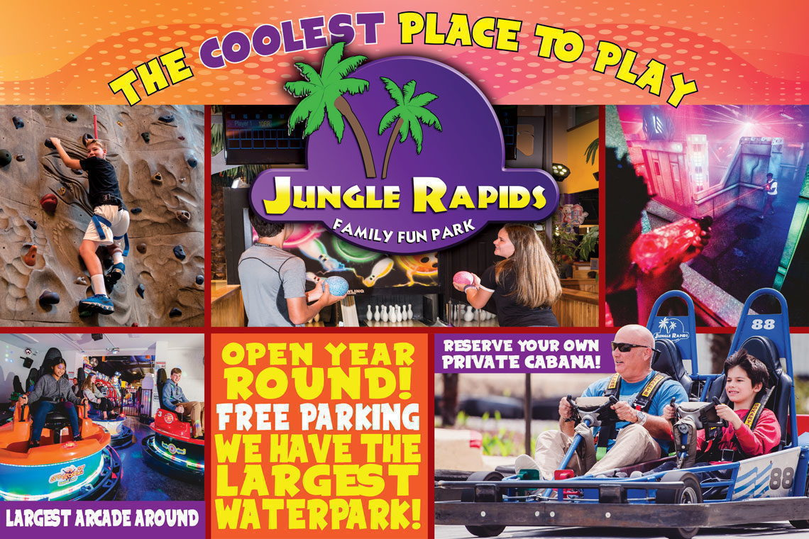 $2. OFF T-Shirt JUNGLE RAPIDS FAMILY FUN PARK