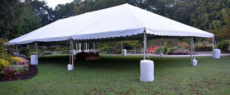 Event tent at New Hanover County Arboretum in Wilmington, NC