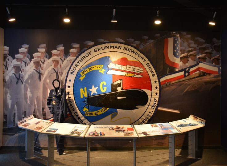 An exhibit at the USS North Carolina in Wilmington, NC