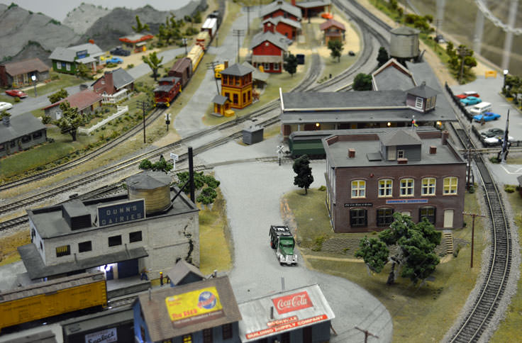 Miniature train display at the Wilmington Railroad Museum